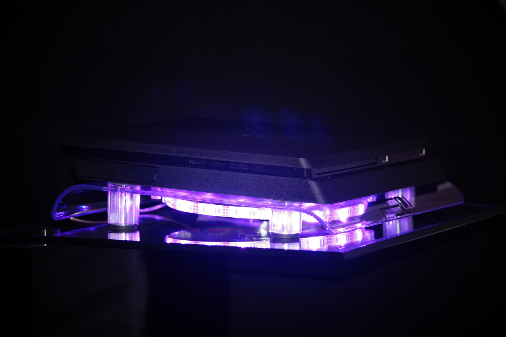 multicolor playstation 4 ps4 pro slim rgb led design. Black Bedroom Furniture Sets. Home Design Ideas