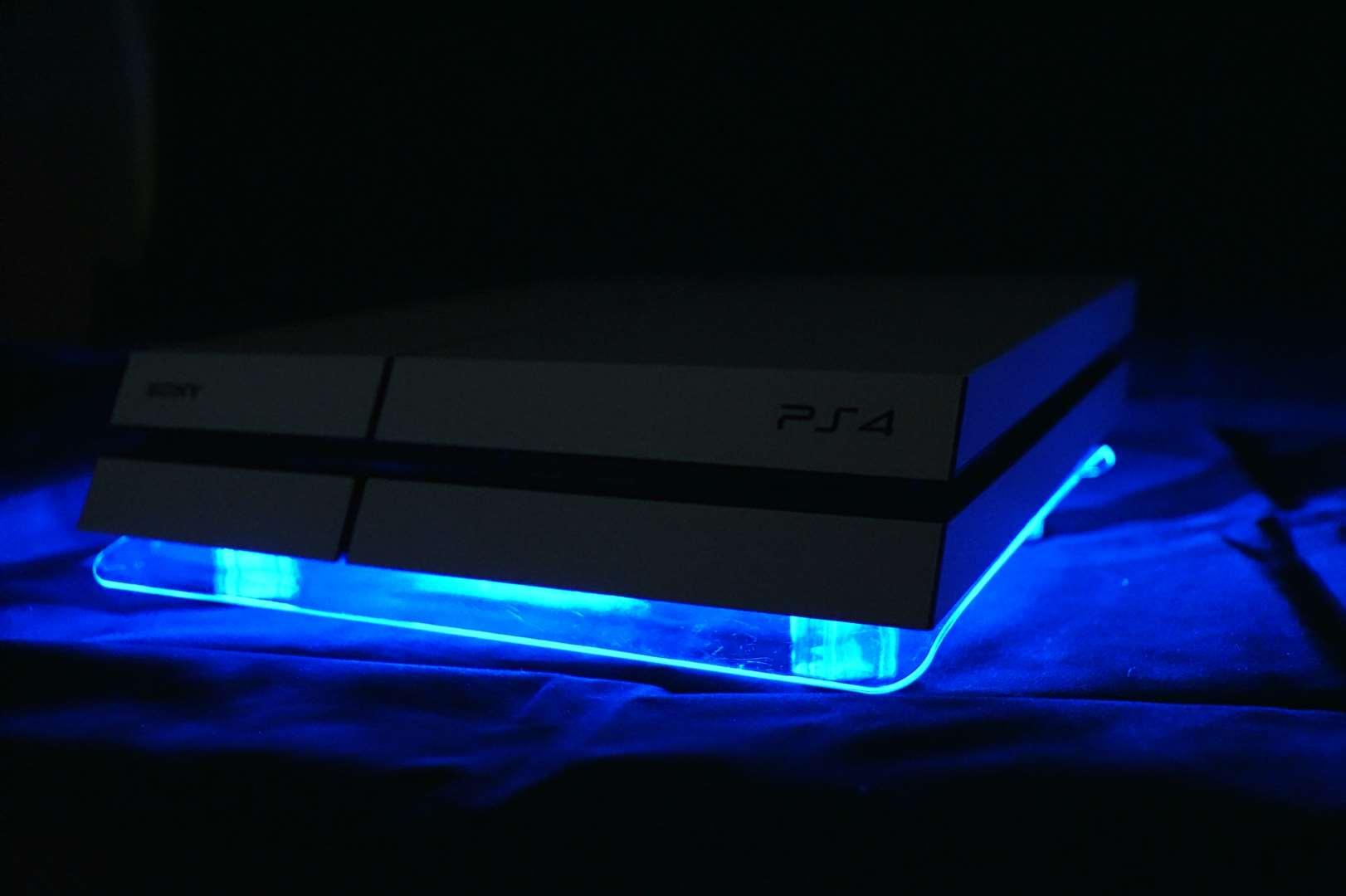 usb design cooler cooling fan pad blue led stand for ps4. Black Bedroom Furniture Sets. Home Design Ideas