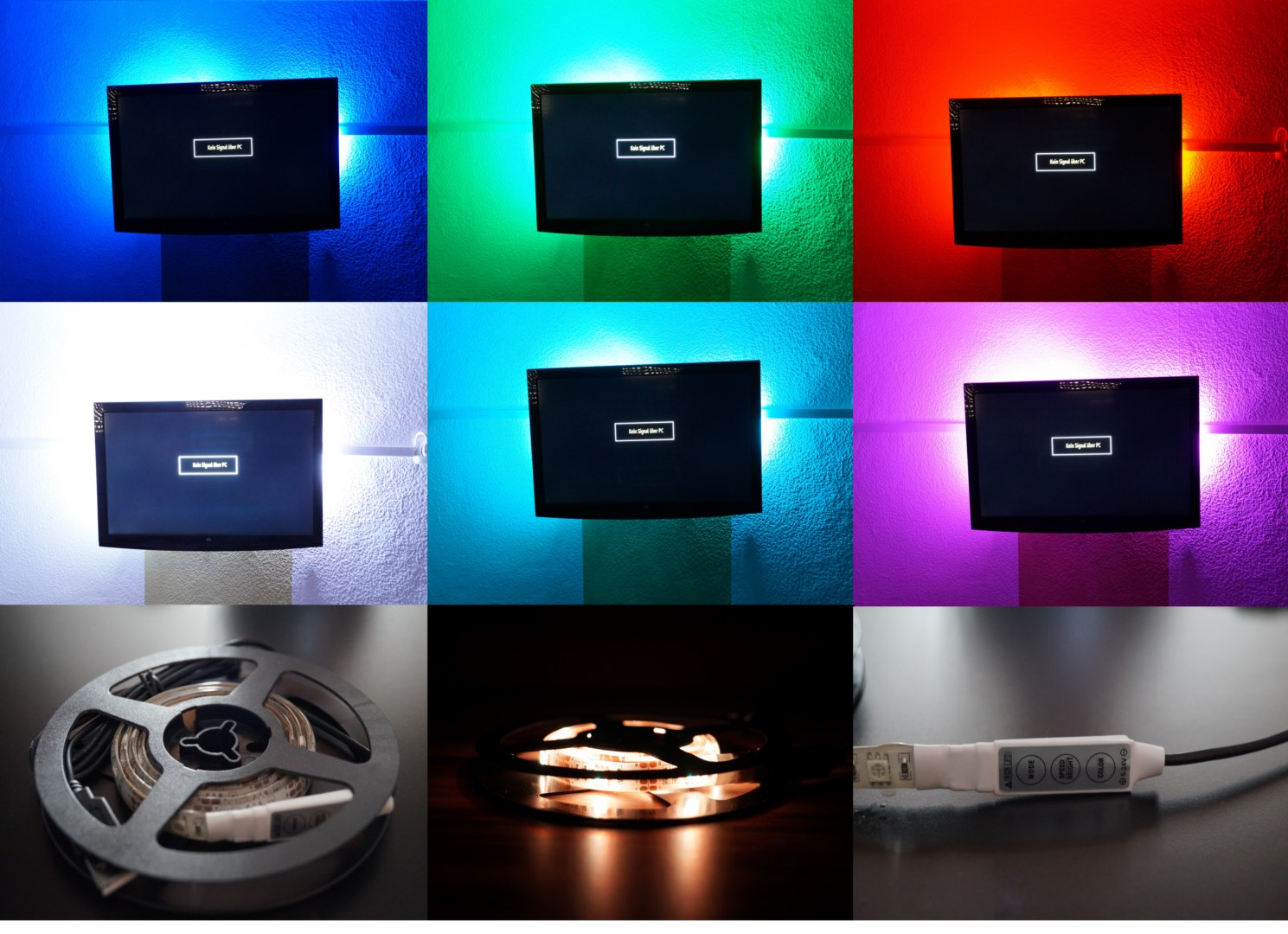 tv rgb led usb pc fernseher backlight hintergrund. Black Bedroom Furniture Sets. Home Design Ideas